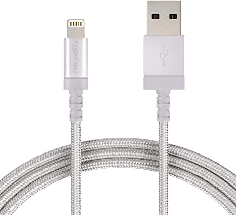 MFi Certified iPhone Charger Basics Lightning to USB A Cable 6-Foot Black