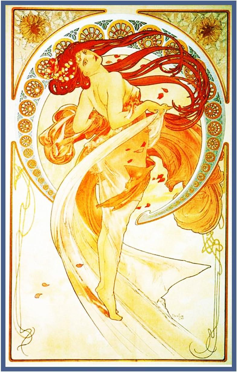 Orenco Originals The Arts Dance by Alphonse Mucha Counted Cross Stitch Pattern