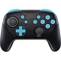 eXtremeRate Heaven Blue Repair ABXY D-pad ZR ZL L R Keys for Nintendo Switch Pro Controller, DIY Replacement Full Set…