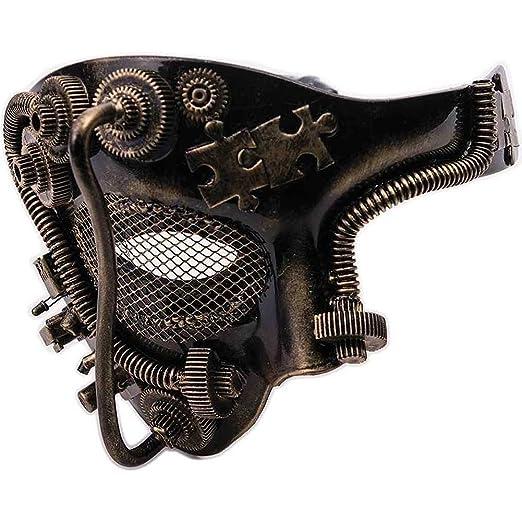 Steampunk Costume Essentials for Women Adult Steampunk Half Mask $19.54 AT vintagedancer.com