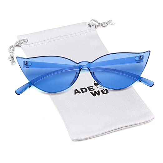Eye Piece One Tinted Sunglasses Colored Glasses For Candy Transparent Rimless Cat Women 7ygbf6