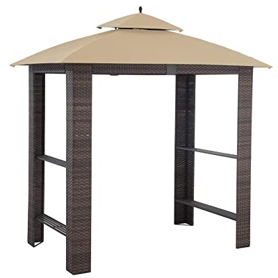 Garden Winds Replacement Canopy Top Cover for Sonoma Grill Gazebo - RipLock 350 : Garden & Outdoor