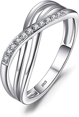 JewelryPalace Magnifique Bague Femme Infini en Argent Sterling 925 en Zircon Cubique de Synth/èse CZ
