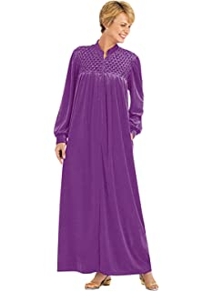 Carol Wright Gifts Zip-Front Velour Robe 9cb08efac