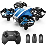 Holyton Mini Drone for Kids Beginners, Hand Operated Remote control Micro Quadcopter with 21 Mins Flight Time, Auto Rotation,