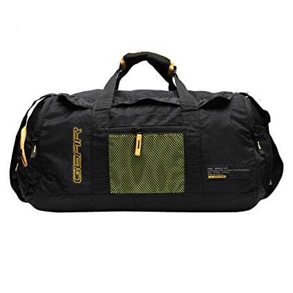 b6f5ec7f1624 ... Bag Travel  size 40 2e8d8 e4223 Gear Polyester 50 cms Black and Yellow Travel  Duffel (METDFPSTD0112) ...