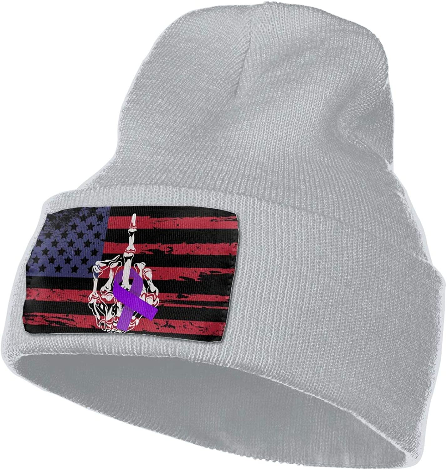 jiangshi Fuck Pancreatic Cancer Middle Finger Unisex Beanie Knit Hat Soft Warm Winter Skull Cap