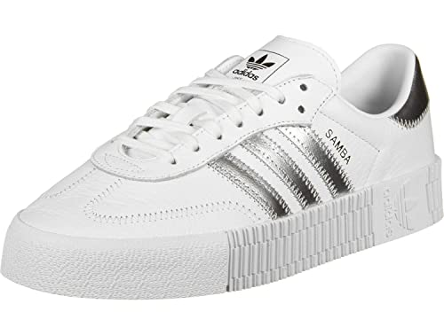 adidas SAMBAROSE White EE9017 Sneakers per Donna, 36: Amazon ...