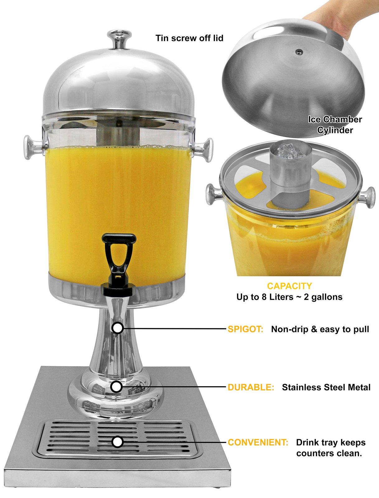 Estilo Heavy Duty Stainless Steel Drink Dispenser, 8L by Estilo (Image #3)