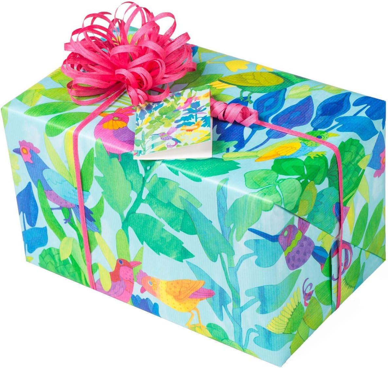 zum Geburtstag 5 Meter Geschenkpapier Rolle und 9x Geschenkanh/änger f/ür Teens /& Erwachsene Weihnachten PARADIES VOGEL Geschenkpapier BIRDS klimaneutrales Einpackpapier rei/ßfest