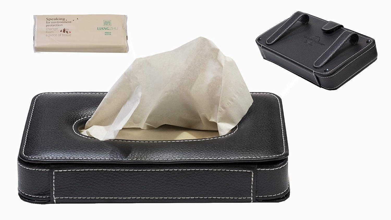 The Custom Edge Luxury Auto Visor Tissue Holder 5559022508 Black