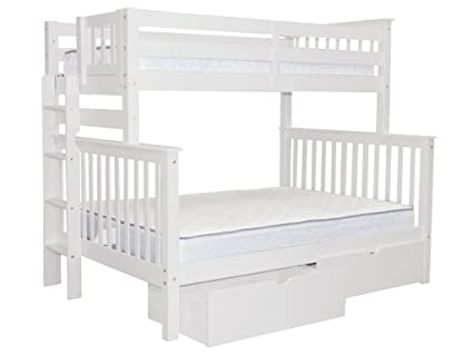 Amazon Com Bedz King Bunk Beds Twin Over Full Mission Style With