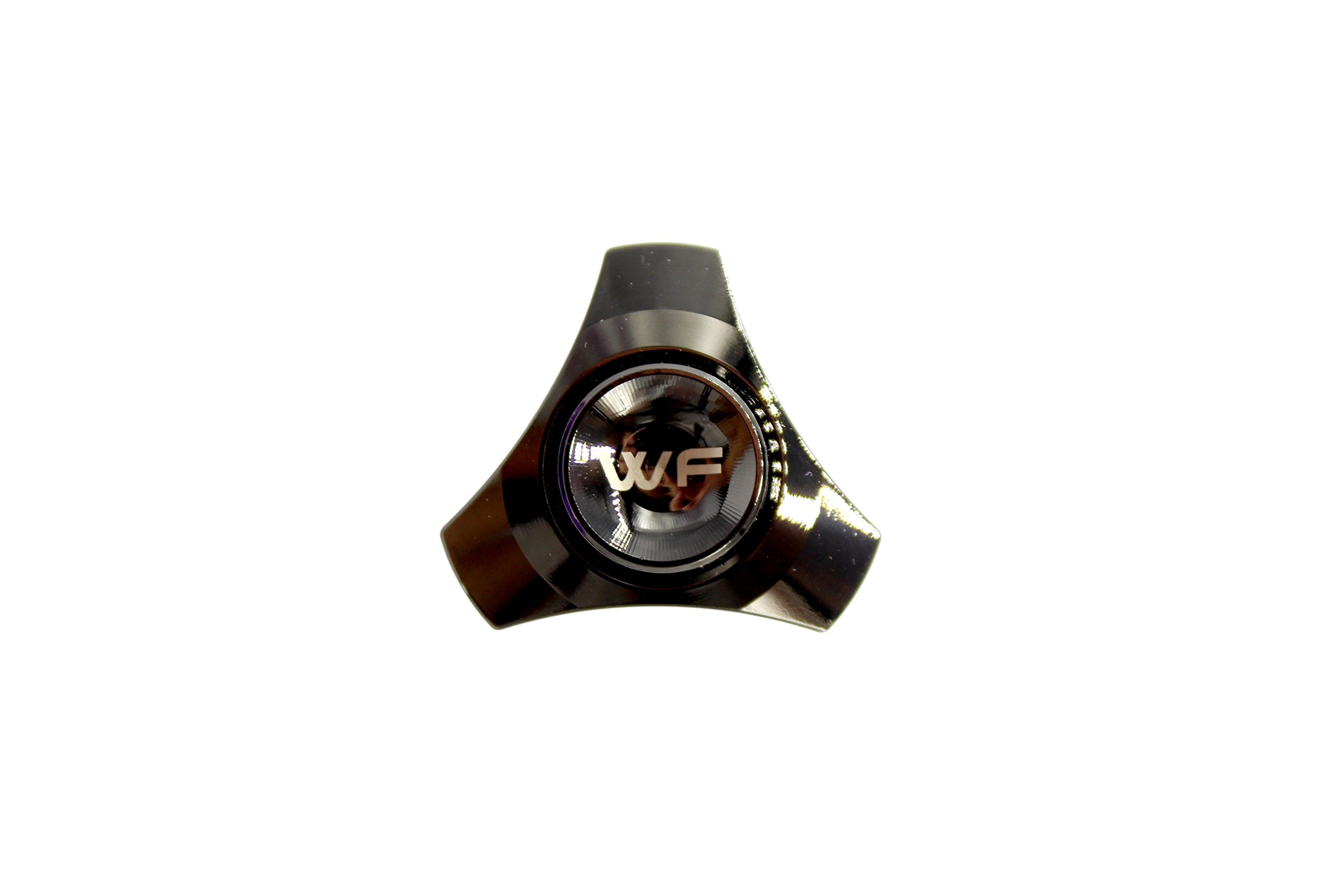 WeFidget ELECTROPLATED Mini Hand Spinner Designs, Insane Spin Times, Super Discrete, Premium Finishes, Replaceable Bearings, Travel Case Included, Obsidian Black