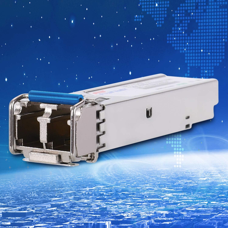 MMF, 850nm, 550m, Dual LC, DDM FlyFiber Gigabit SFP LC Multi-Mode Transceiver,1000BASE-SX Mini-GBIC Module for Cisco GLC-SX-MMD//GLC-SX-MM//SFP-GE-S