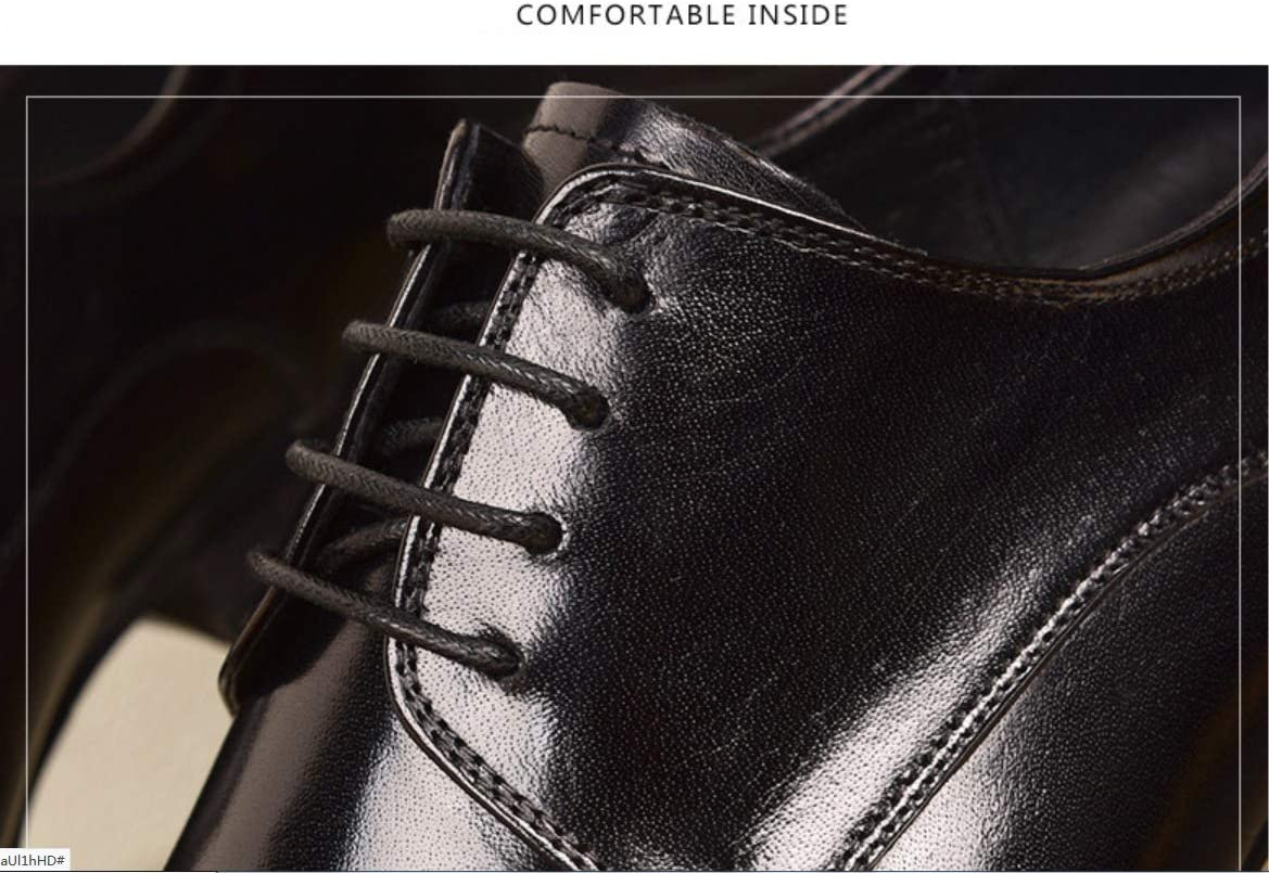 Casual Classic Mens Shoes Mens Hand-Stitched Leather Shoes SHANGWU Dress Shoes for Men Formal Leather Shoes