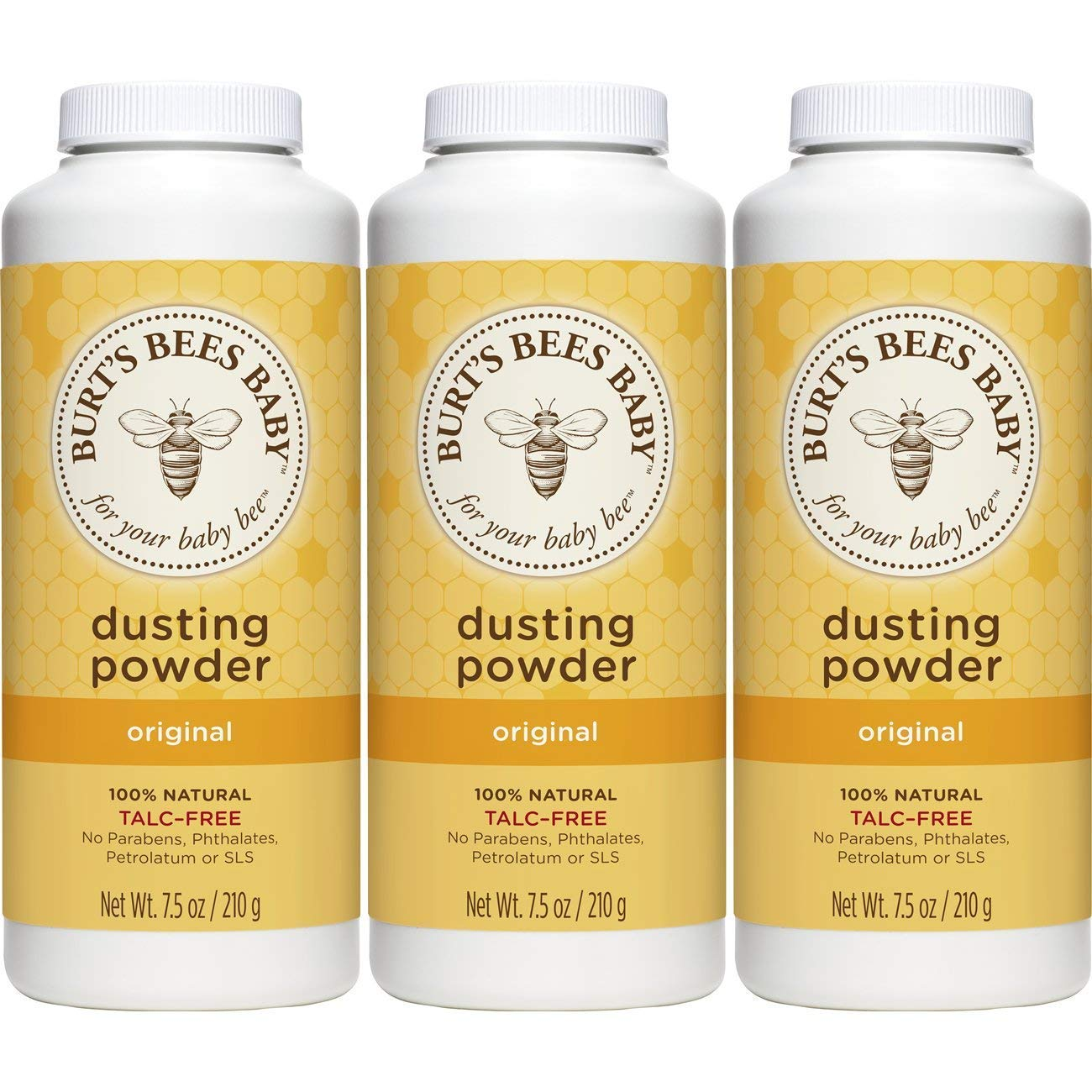 Burt's Bees baby 100% natural dusting powder, 7.5 ounces (pack of 3), 22.5 Ounce