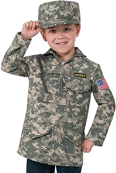 Rubie's Deluxe Kid's Camo Combat Role Play Dress-Up Set
