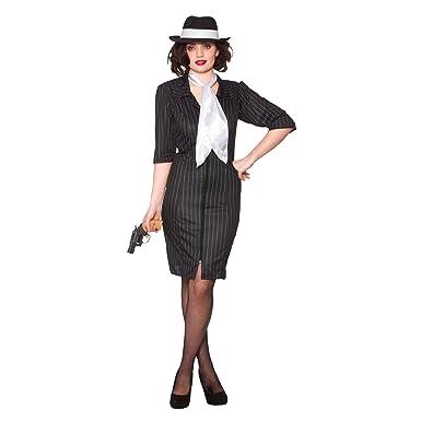 5cfc17ecb75 Gangster Gal - Adult Costume Lady  M (UK 14-16)  Amazon.co.uk  Clothing