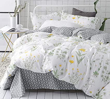 Amazon Com Karever Floral Duvet Cover Set Twin Girls Cotton Bedding