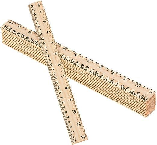 Ruppert Holzlineal 300 mm lang naturbelassen VE= M/öbius