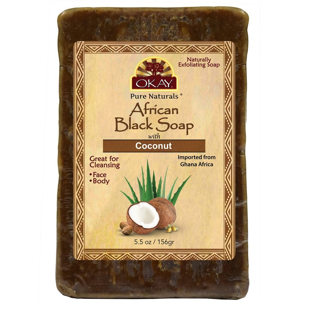 OKAY African black soap coconut 5.5oz/156gr Xtreme Beauty International