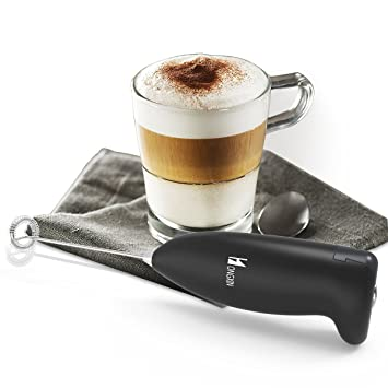 Oucles Milk Frother - Máquina eléctrica de espuma para café, capuchino, chocolate: Amazon.es: Hogar