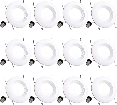 UL and Energy Star Certified Quick Easy Can Install 120W Equivalent 6 Pack 5//6 Inch 1000 Lumen Led Recessed Downlights Dimmable LED Downlight Retrofit Fit 5000K Daylight Ceiling Light 13W