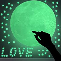 DUOFIRE Glow in The Dark Stars Wall or Ceiling Stickers,3D Glowing Ultra Bright Stars of 216Pcs and 1 Full Moon,Perfect…