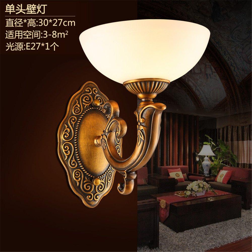 DengWu lámpara de pared Lámparas de pared de cobre Continental emulación Retro-Shek Pik nube luz dormitorio estudio de la cama en el salón apliques apliques ...
