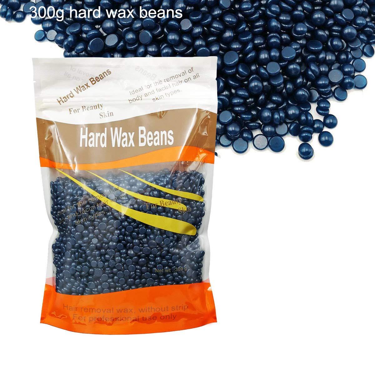 Hard Wax Beans No Strip for Hair Removal, Body Hair Depilatory Pearl Beads, Chamomile Brazilian Bikini Waxing for Women Men 10.5ounce/300g waxkiss