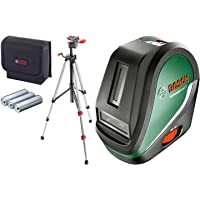 Bosch Self-Levelling Cross Line Laser Set Universal Level 3 (Tripod, Bag, 3 x AA Batteries Included, in Box)
