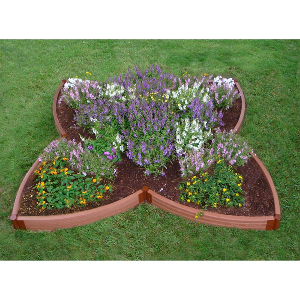 Frame It All 2-inch Series Composite Four Leaf Clover Raised Garden Bed - 10ft. x 10ft. x 5.5in.