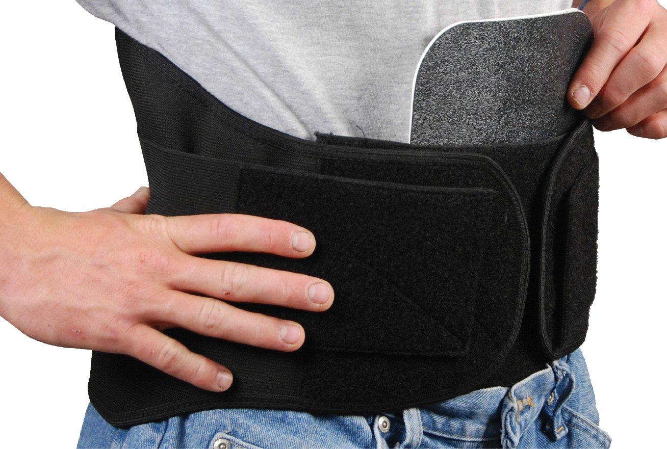 Bilt-Rite Mastex Health Lumbo Protech Back Support, Black, 3X-Large