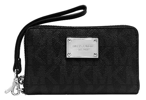 dd47634c97faaf Color: MICHAEL Michael Kors Womens Jet Set Faux Leather PDA Wristlet Black  O/S