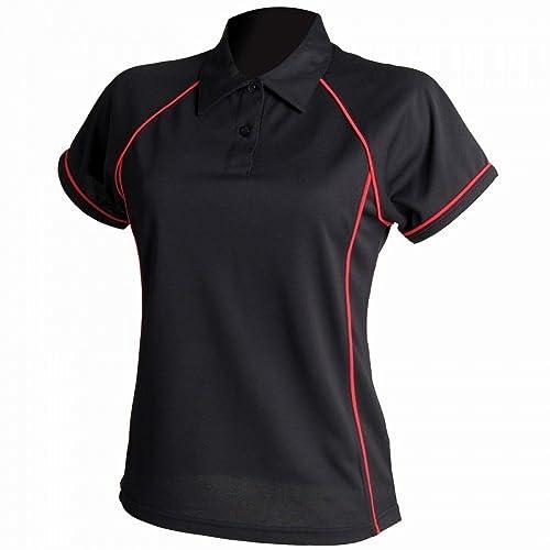 Finden & Hales- Polo de deportes Coolplus con ribetes para mujer