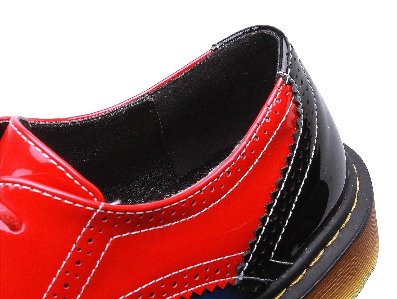 Smilun Damen Full Brogue Debby Westernabsatz Schuhe Klassisch Schn/ürhalbschuhe Rund Toe