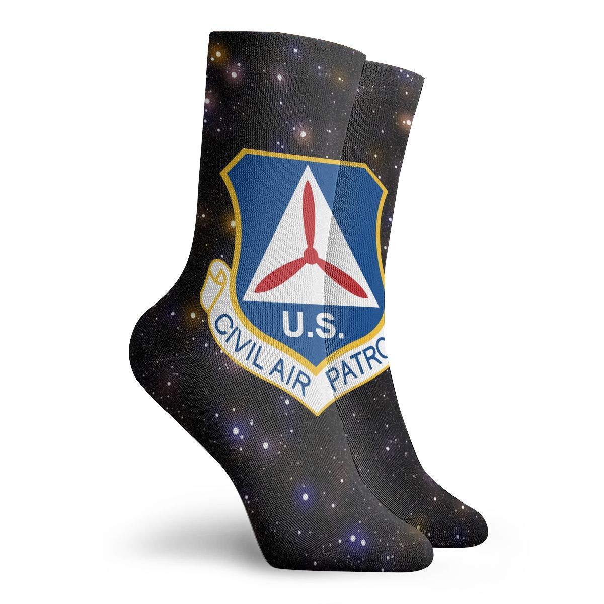 Civil Air Patrol Fashion Dress Socks Short Socks Leisure Travel 11.8 Inch