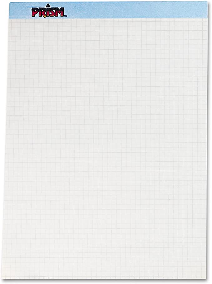 Blue 8-1//2 X 11-3//4 50 Sheets//Pads Tops 76581 Prism+ Quadrille Perforated Pads 12//Pack by Tops