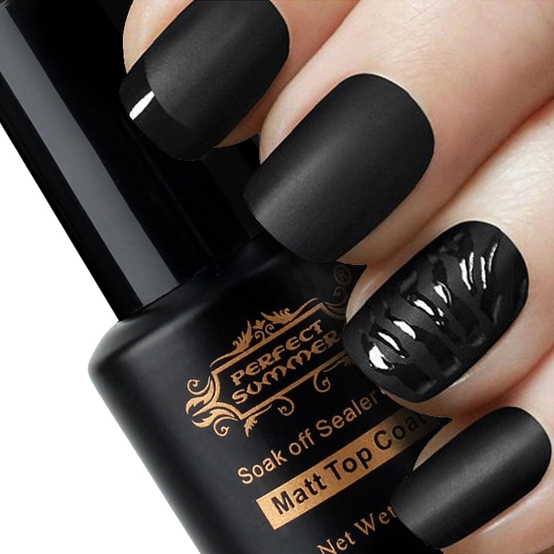 Perfect Summer Gel Nail Polish UV LED Matte Top Coat 8ml Top gel ...