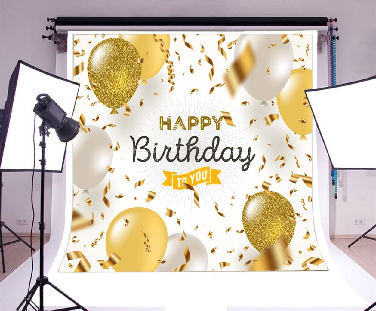 Birthday Party 7x3ft Vinyl Photography Backdrop Colorful Ribbons Dots Bowknot Birthday Hat Balloon Banquet Table Baby Kids Party Celebration Banner Decor Studio Photo Prop Background