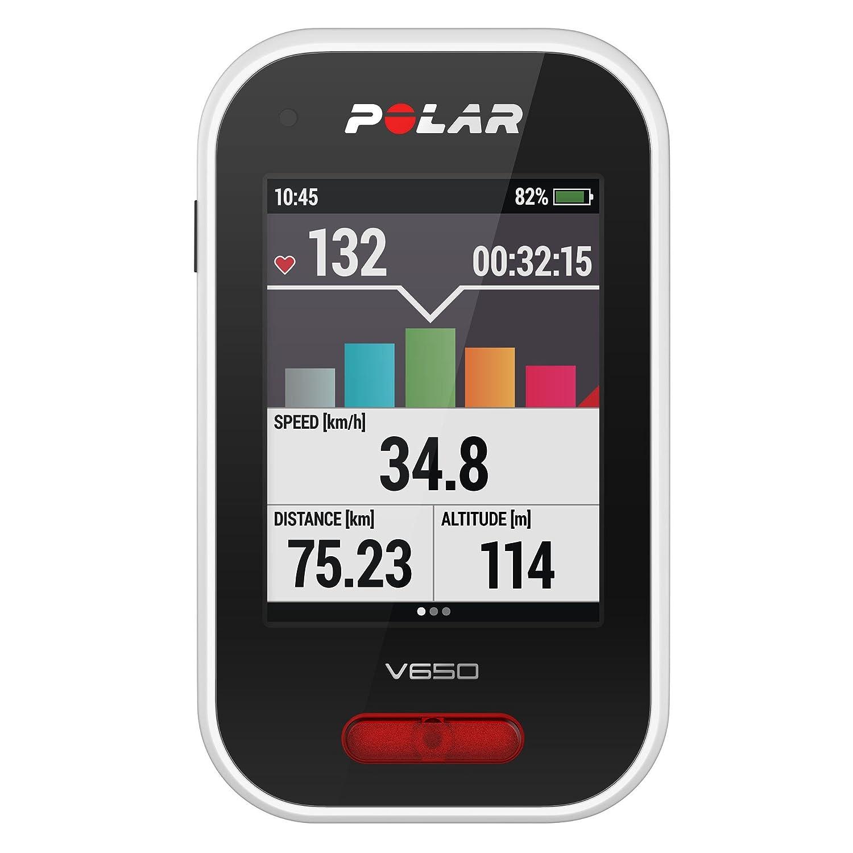 Polar V650 Ciclocomputador para Bicicleta con GPS, Unisex Adulto, Blanco, Talla Única 90069624