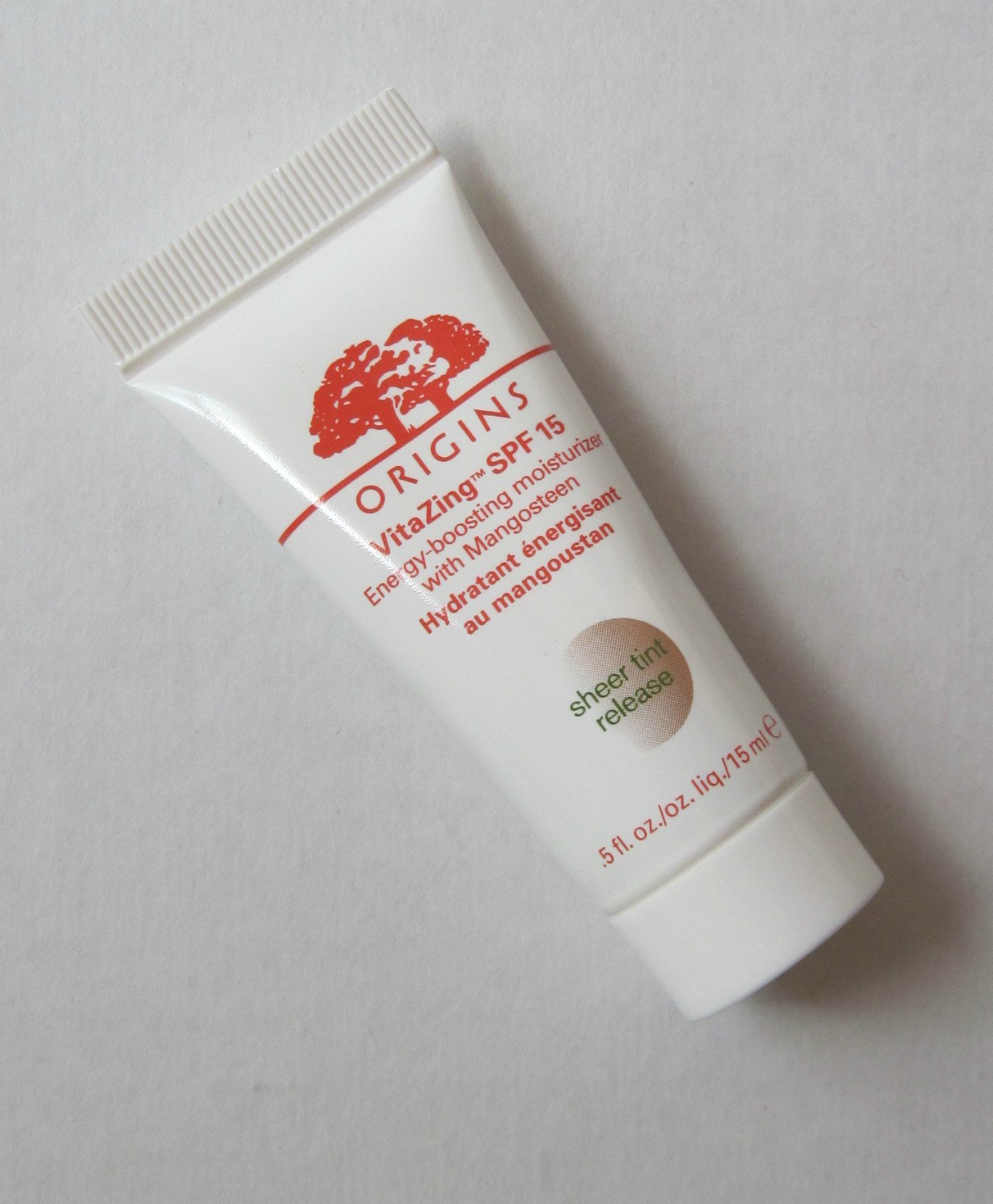 Origins VitaZing SPF15 Energy Boosting Moisturizer With Mangosteen (Sheer Tint Release), .5 oz (DLX Travel Size) NEW!