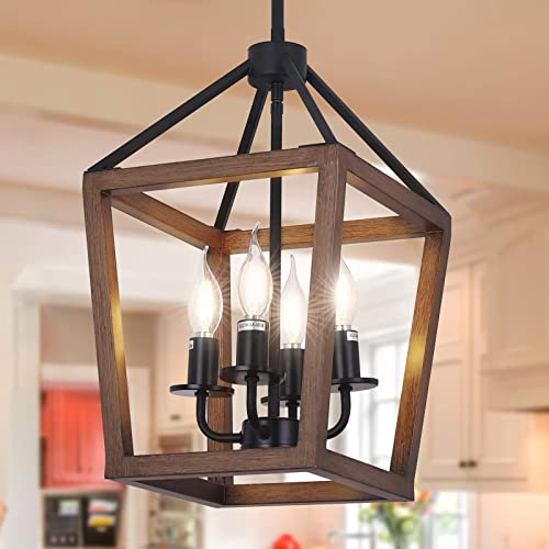 4-Light Rustic Chandelier