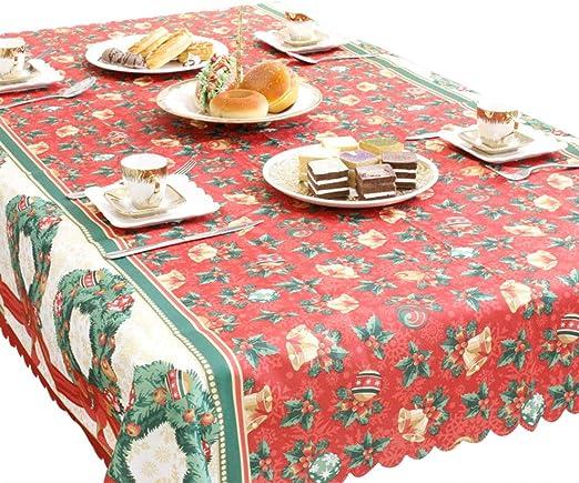 FEOYA - Decoración de Mesa Navidad Mantel Antimanchas Rectangular ...