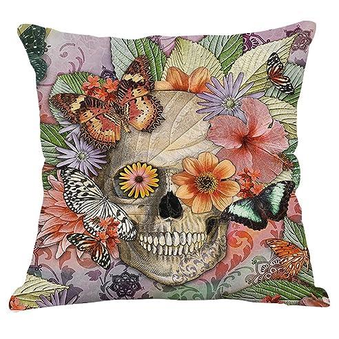 GT Kissenbezug Kreativ, Totenkopf, Leinen Baumwoll Bedrucken Dekorative  Kissenhülle Sofa Kissenbezug, Küche Bettwaren