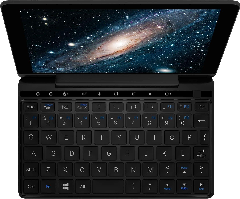 "GPD Pocket 2-Amber Black-7"" Touchscreen Ultrabook UMPC Mini Windows 10 Portable Laptop- Intel Celeron Processor 3965Y,UHD Graphics 615,8GB RAM,128GB Storage"