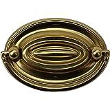 "Hepplewhite Drawer Pull Polished Solid Brass 2 5/8"" W | Renovator's Supply"