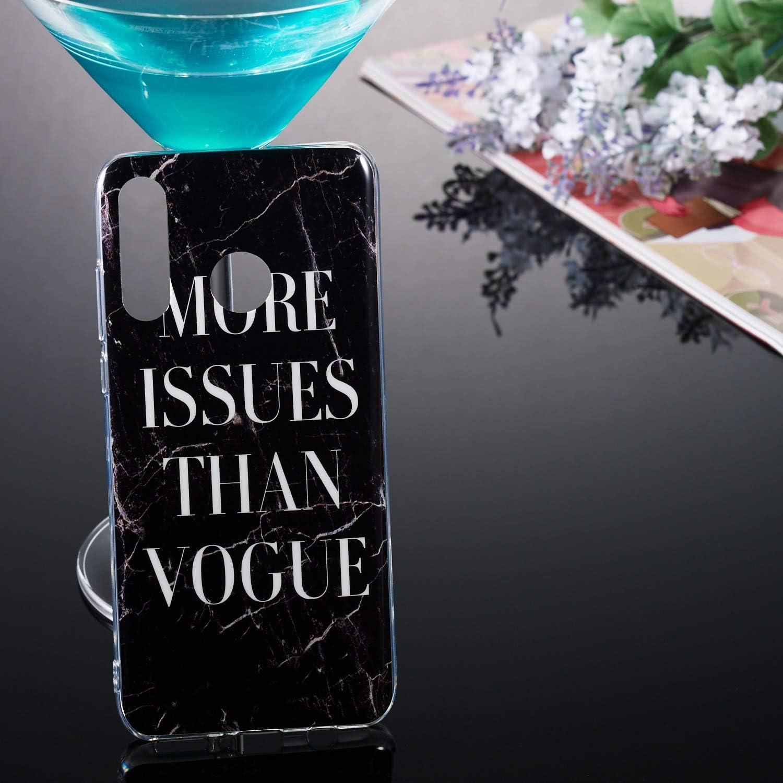 Etui Mince /Étui Ultra Fine Antichoc Housse Mince Case Soft Protection ChoosEU Compatible avec Coque Huawei P30 Lite Souple Silicone Motif Marbre pour Filles Femmes Homme Violet