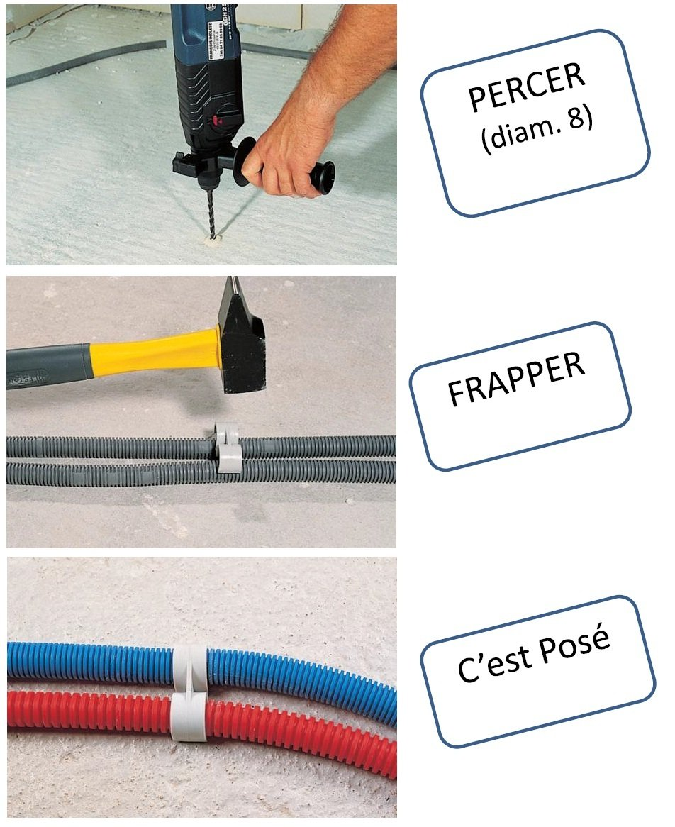ING Fixations IGLA851430 Sachet de 20 attaches fix-ring simple 16 mm pour tube iro ou gaine ict