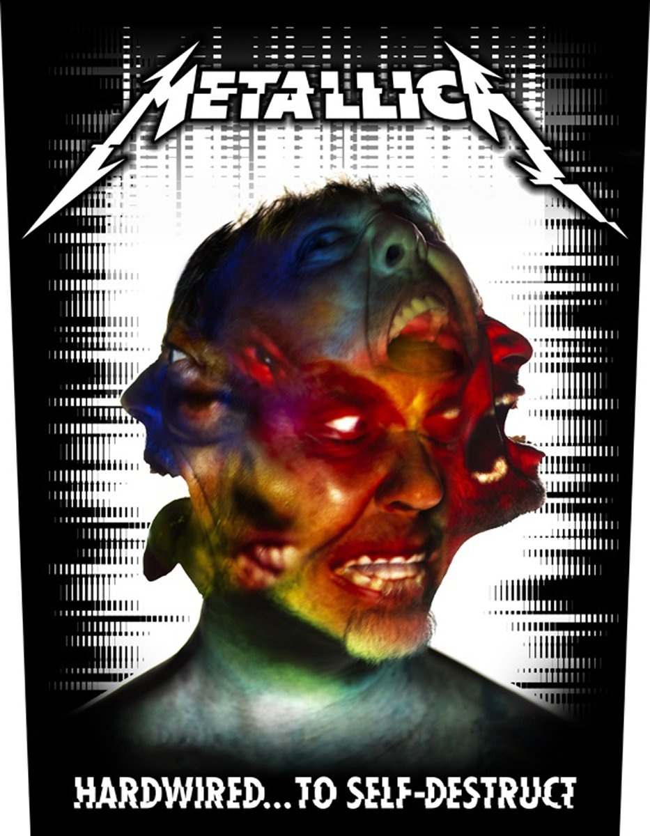 Metallica Hardwired... To Self-Destruct Toppe schiena nero Grindstore
